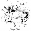 Vettoriale Stock : Vector illustration of music background