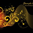 Vector illustration of music background — Stockvectorbeeld
