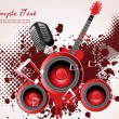Vector illustration of music background — Vector de stock #3832517