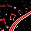Royalty-Free Stock Immagine Vettoriale: Vector illustration of music background