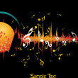 Vector illustration of music background — Vector de stock