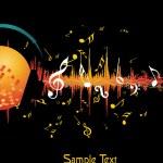 Векторная иллюстрация фоновой музыки — Cтоковый вектор