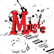 Royalty-Free Stock 矢量图片: Vector illustration of music background