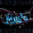 Royalty-Free Stock Vector Image: Vector illustration of music background