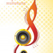 Vector illustration of music background — Imagen vectorial