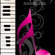 Vector illustration of music background - Stock Vector