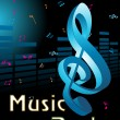 Vector illustration of music background — Vettoriali Stock