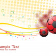 Abstract sports background illustration — Image vectorielle