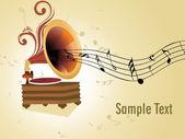 Vector ilustración de fondo de la música — Vector de stock