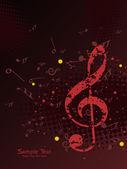 音楽の背景のベクトル イラスト — ストックベクタ