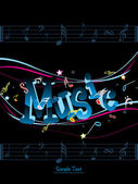 Vector illustration of music background — Stock Vector