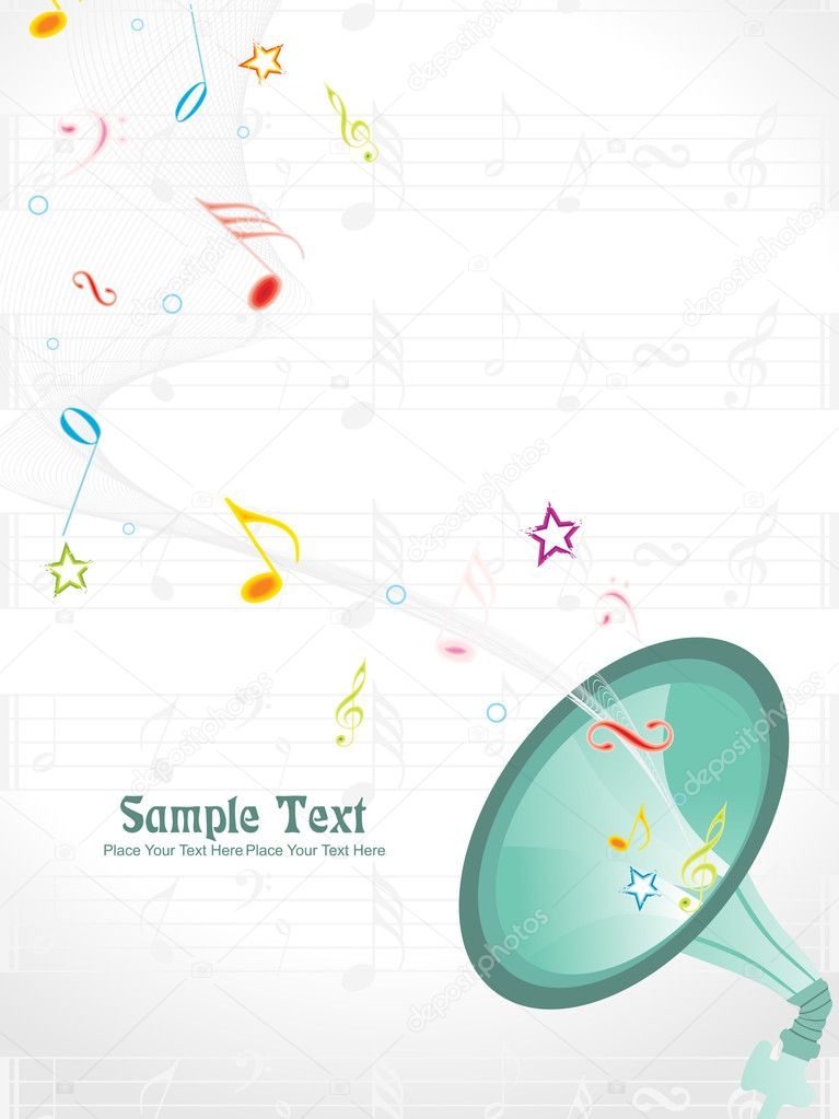 Abstract musical background, vector illustration — Stock Vector #3831861