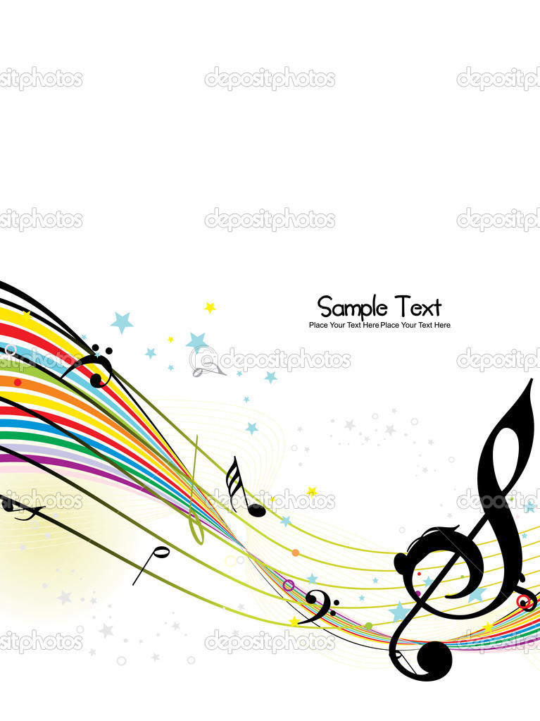 Abstract musical background, vector illustration — Vettoriali Stock  #3832310