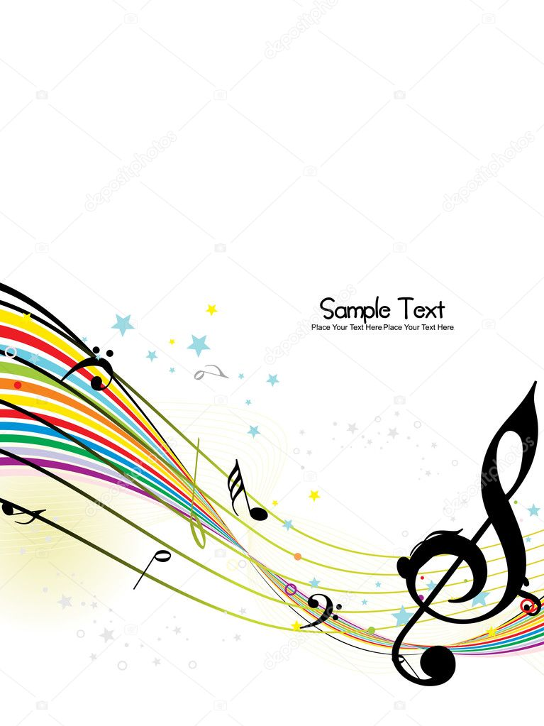Abstract musical background, vector illustration  Stockvektor #3832310