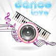 Beautiful dance love background — Stock Vector