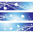 Vector set of romantic header — Stock Vector #3920832