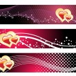 Vector set of romantic header — Stock Vector