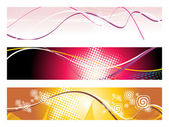 Background with set of header — Stock Vector