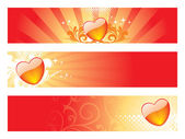 Set of romantic header — Vecteur