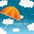 Rainy day illustration — Stock Vector