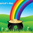 Background for happy st patrick day - Stock Vector