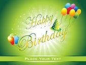 Fondo feliz cumpleaños — Vector de stock