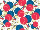 Tenis de mesa y mesa de ping pong — Vector de stock