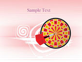 Background with dartboard — Stock Vector