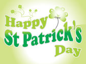 Background for happy st patrick day — Stock Vector