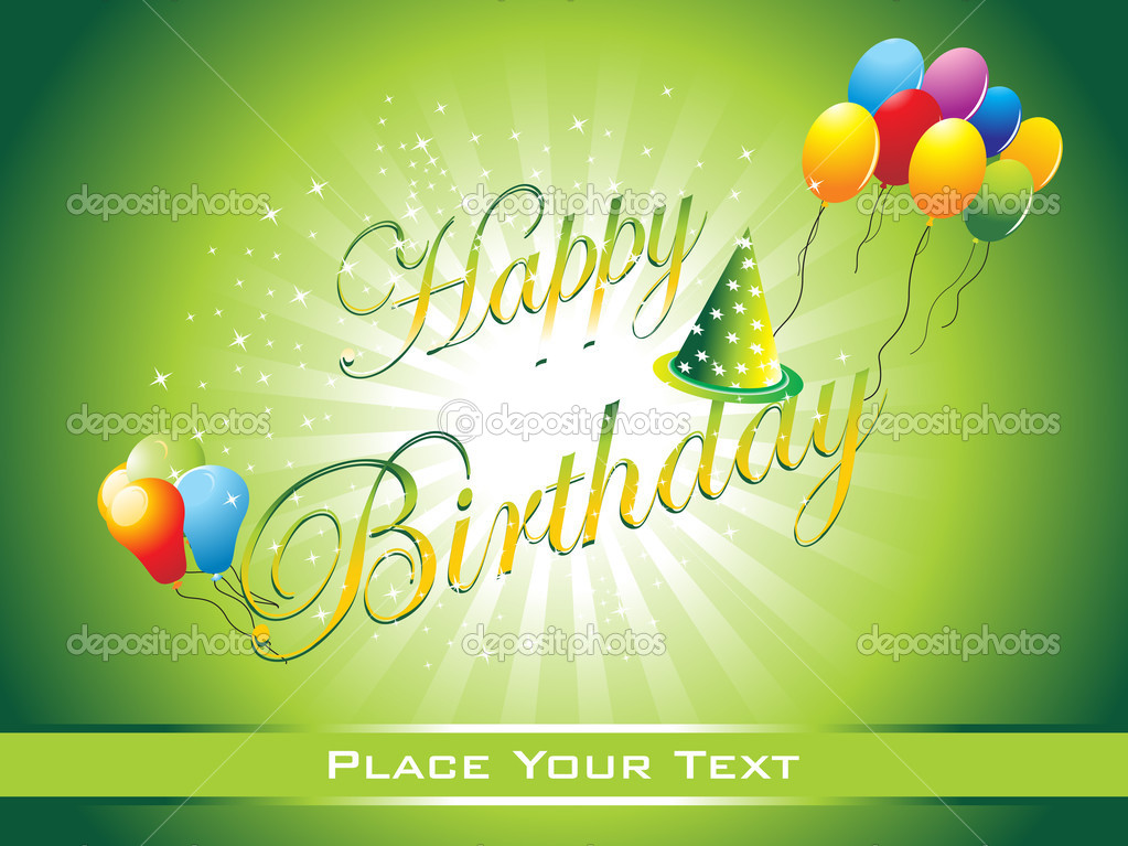 Beautiful happy birthday background illustration — Stock Vector #3953907