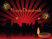 Ilustração para a celebração de deepavali — Vetorial Stock
