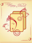 Ilustración para celebración de deepavali — Vector de stock