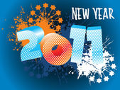 Wallpaper for new year 2011 — Vector de stock