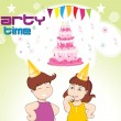 Royalty-Free Stock Vector Image: Illustration for birthday party