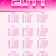 Vector calender for 2011 — Stock Vector #4035493