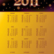 Stock Vector: Vector calender for 2011