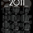 Vector calender for 2011 — Stock Vector