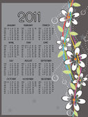 New year 2011 calender — Vecteur