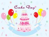 Illustration for birthday party — Stockvektor