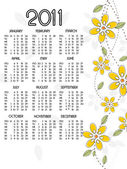 New year 2011 calender — Vetorial Stock