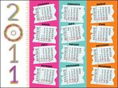 New year 2011 calender — Vector de stock