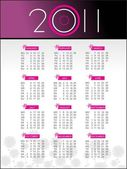 New year 2011 calender — Stockvektor