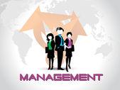 Vector business management backgorund — Stock Vector