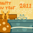 Wallpaper for new year 2011 — Stock Vector #4042278