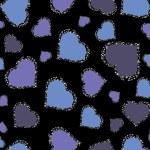 Romantic pattern illustration — Stock Vector