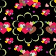 Romantic pattern illustration — Stock vektor