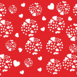 Romantic pattern illustration — Vettoriali Stock