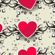 Romantic pattern illustration — Stockvektor