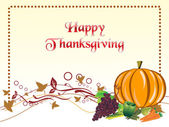 Illustration for happy thanksgiving day — Stock Vector