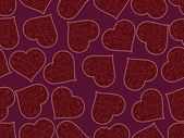 Romantic pattern illustration — Vettoriale Stock